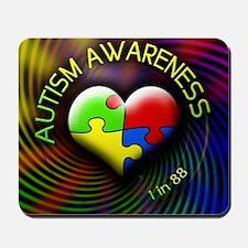 autismawareness-1in88-roundorsquare Mousepad