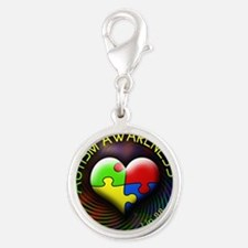 autismawareness-1in88-roundors Silver Round Charm