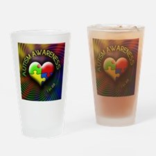 autismawareness-1in88-roundorsquare Drinking Glass