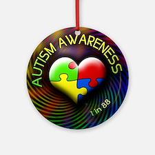 autismawareness-1in88-roundorsquare Round Ornament