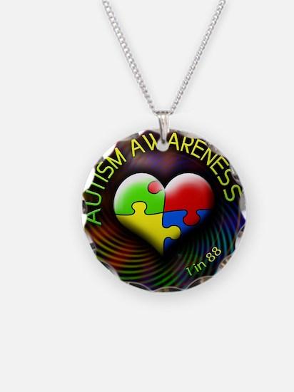 autismawareness-1in88-roundo Necklace