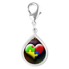 autismawareness-1in88-round Silver Teardrop Charm