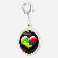 autismawareness-1in88-roundorsq Silver Oval Charm