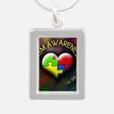 autismawareness-1in88-ro Silver Portrait Necklace