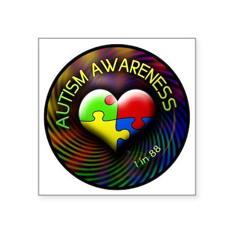 "autismawareness-1in88-circl Square Sticker 3"" x 3"""