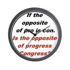 IF THE OPPOSITE OF PRO IS CON... Wall Clock