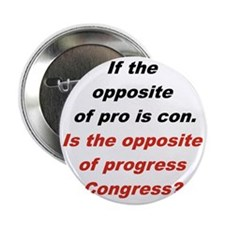 "IF THE OPPOSITE OF PRO IS CON... 2.25"" Button"
