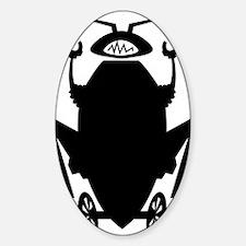 roachbotSoloBLACK Sticker (Oval)