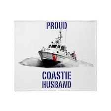USCG Boat Husband 2 Throw Blanket