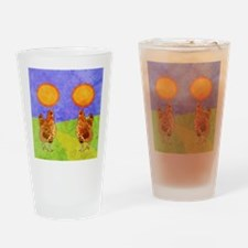 flipFlopsRooster Drinking Glass