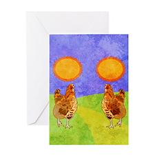 flipFlopsRooster Greeting Card