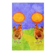 flipFlopsRooster Postcards (Package of 8)