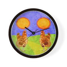 flipFlopsRooster Wall Clock