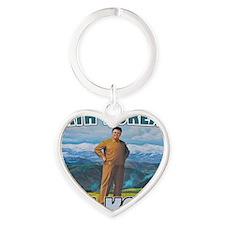 North Korean Is Best Korean Heart Keychain