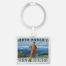 North Korean Is Best Korean Landscape Keychain