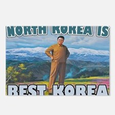 North Korean Is Best Kore Postcards (Package of 8)