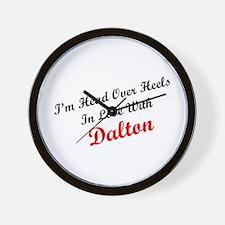 In Love with Dalton Wall Clock