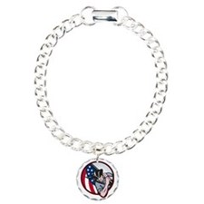 American Patriot Minutem Charm Bracelet, One Charm