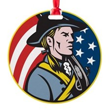 American Patriot Minuteman With Fla Ornament