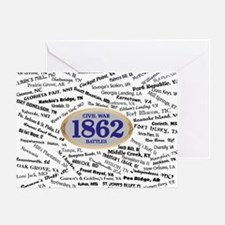 Battles - 1862 Greeting Card