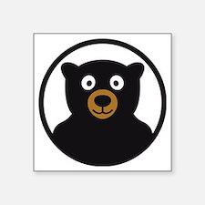 "Bear B 04_2012 2c Square Sticker 3"" x 3"""