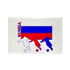 Russia Soccer Rectangle Magnet