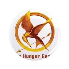 "The Hunger Games Orange 3.5"" Button"