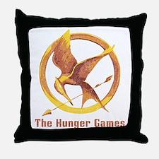 The Hunger Games Orange 2 Throw Pillow