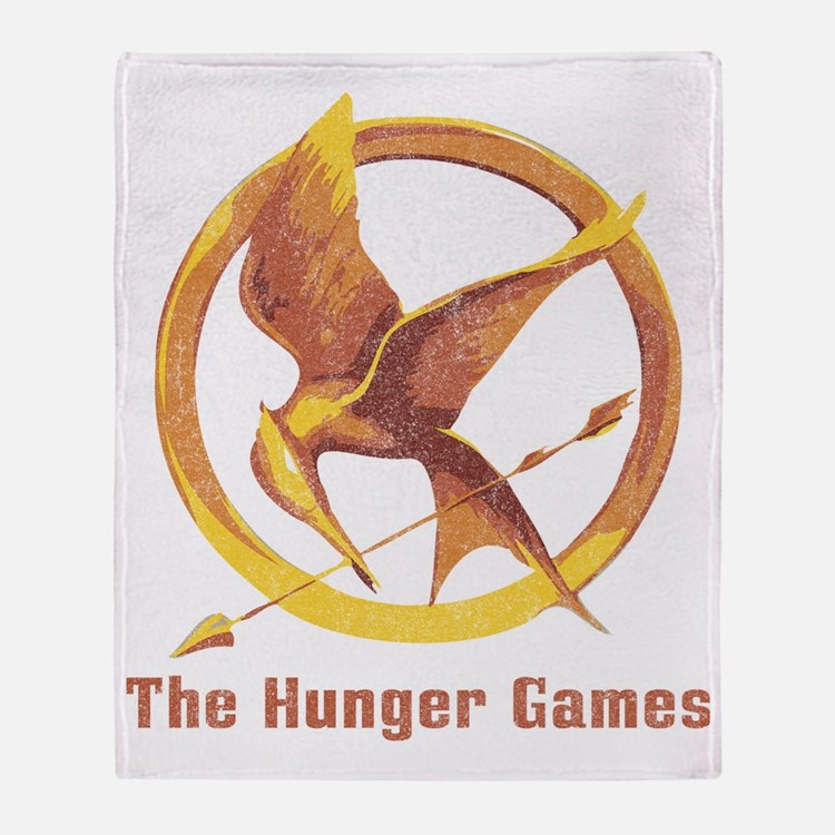 The Hunger Games Orange 2 Throw Blanket