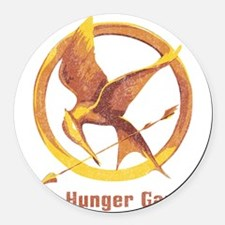 The Hunger Games Orange 2 Round Car Magnet