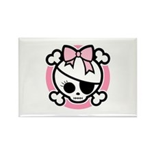 Molly Bow III -pink Rectangle Magnet