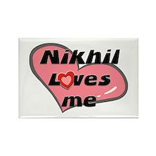 nikhil loves me Rectangle Magnet