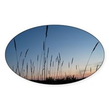 Grain at First Light Oval Decal