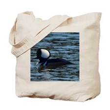 hooded merganser 2nd crop 2000x2000 Tote Bag