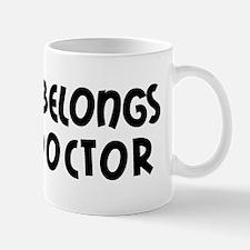 My Heart Belongs to a Doctor Small Mugs