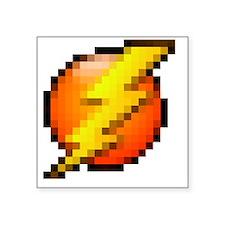 "lightning blk Square Sticker 3"" x 3"""