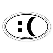 Classic Keyboard Frown Oval Car Decal