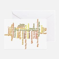 Hunger Games Words Greeting Card
