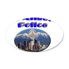 lapdskyline Oval Car Magnet