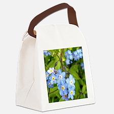 forgetmenotcrop Canvas Lunch Bag