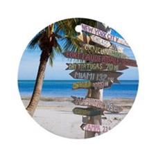 KeyWestSign7100 Round Ornament