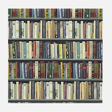 Bookshelf7100 Tile Coaster