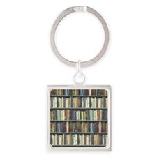 Bookshelf7100 Square Keychain