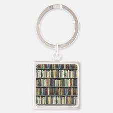 Bookshelf7100 Square Keychain
