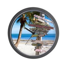 KeyWestSign7100 Wall Clock