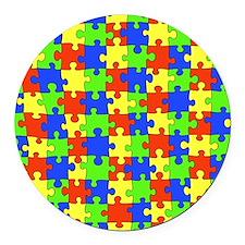 uniquepuzzle Round Car Magnet