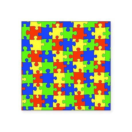 """uniquepuzzle-8x10 Square Sticker 3"""" x 3"""""""