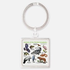 Animals of the Florida Everglades Square Keychain