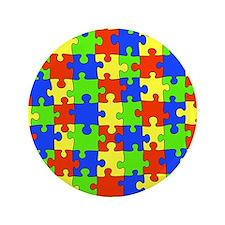 """uniquepuzzle-10x8 3.5"""" Button"""