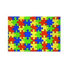 uniquepuzzle-10x8 Rectangle Magnet